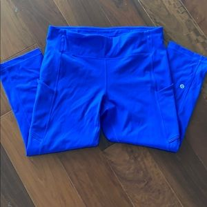 Royal blue lululemon pants